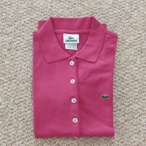 Lacoste Pique stretch womens shirts size 34